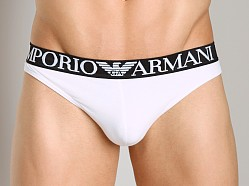 Emporio Armani Cotton Thong White