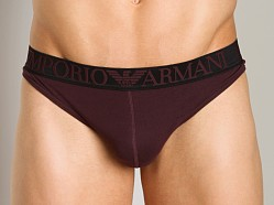 Emporio Armani Cotton Thong Burgundy