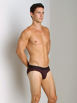 Emporio Armani Contrast Logo Hip Brief Burgundy
