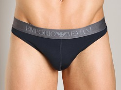 Emporio Armani Sleek & Trim Thong Marine