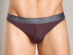 Emporio Armani Sleek & Trim Thong Burgundy