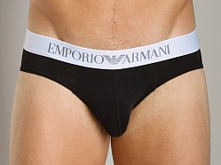 Emporio Armani Shine Waistband Brief Black