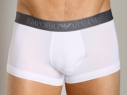 Emporio Armani Shine Waistband Trunk White