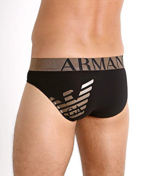 Emporio Armani 3D Print Brief Black
