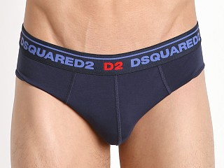 DSQUARED Classic Cotton Jock Brief Blue