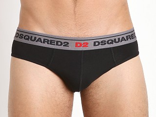 DSQUARED Classic Cotton Jock Brief Black