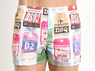 DSQUARED 100% Cotton Boxer Baggage Print