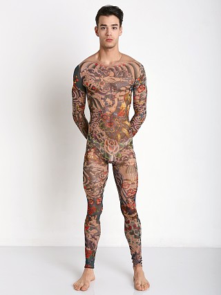 DSQUARED Multicolor Jumpsuit Tattoo Print