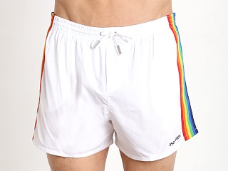 DSQUARED Rainbow Swim Shorts Optical White