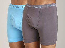 Calvin Klein Cotton Stretch 2 Pack Boxer Brief Shadow Grey