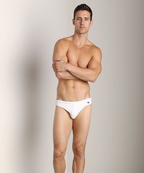 Emporio Armani Classic Lycra Swim Brief White