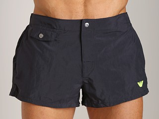 Emporio Armani Classic Nylon Swim Trunk Black