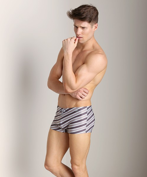Emporio Armani Luxury Stripe Swim Trunk Mauve