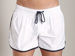 Emporio Armani Retro Swim Shorts White