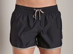 Emporio Armani Retro Swim Shorts Black