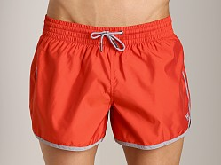 Emporio Armani Retro Swim Shorts Red