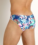 Rick Majors Low Rise Swim Brief Vivid Plumeria, view 4