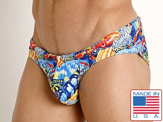 Rick Majors Low Rise Swim Brief Butterflies