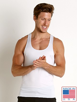 LASC Performance Fast Back Tank Top White