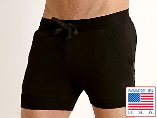 LASC French Terry Rugby Short Black