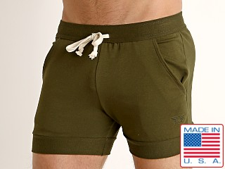 LASC French Terry Rugby Short Army