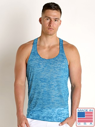 LASC Burn Out String Tank Turquoise
