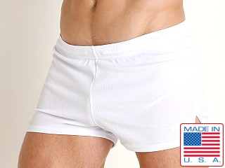 LASC Lined Runner Short White