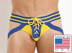 Pistol Pete Varsity Lace Up Jockstrap Royal