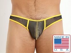 Pistol Pete Prism Double Mesh Brief Navy/Yellow