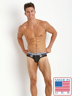 Pistol Pete Nitro Backless Jock Brief Black