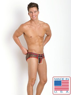 Pistol Pete Xpose Mesh Brief Black