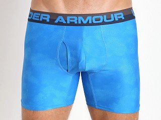 "Under Armour Original Printed 6"" BoxerJock Electric Blue/Charcoa"
