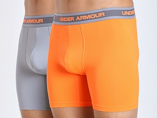 "Under Armour Mesh 6"" BoxerJock 2-Pack Blaze Orange/Steel"