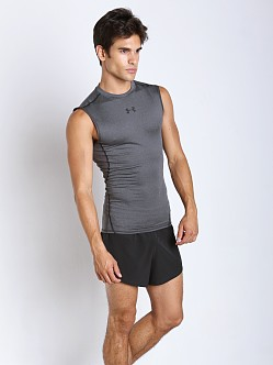 Under Armour Heatgear Sleeveless Compression Tee Carbon Heather