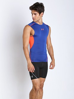 Under Armour Heatgear Sleeveless Compression Tee Cobalt/Orange
