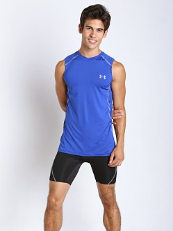 Under Armour Raid Mesh Insert Sleeveless Tee Royal/Steel