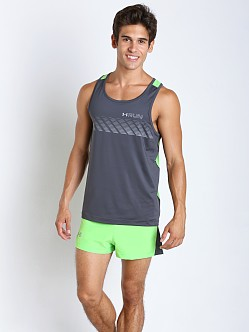 Under Armour Armourvent Apollo Running Tank Stealth Grey