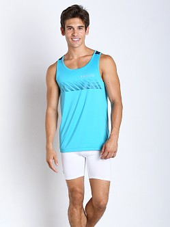 Under Armour Armourvent Apollo Running Tank Pacific