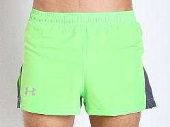 Under Armour Launch Split Running Short Poison Green