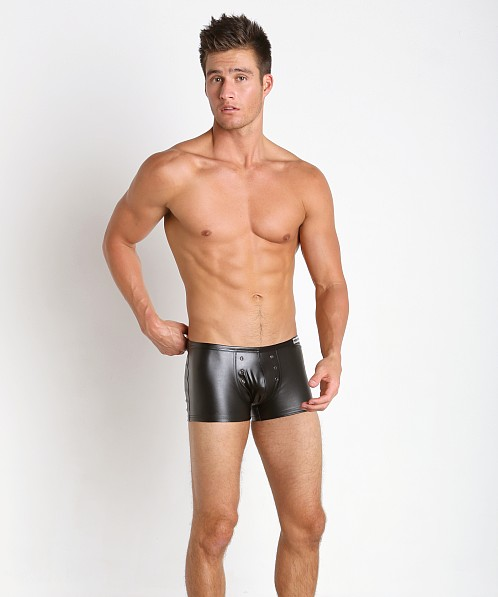 Modus Vivendi Blend Leather Look Boxer Black