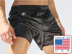 Rufskin Andreas Nylon Onion Skin Shorts Black