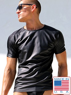 Rufskin Gotham Rubberized Short Sleeve Tee Black