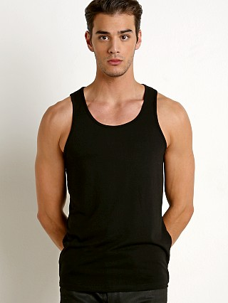 St33le Stretch Laser Cut Tank Black
