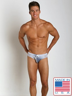 Pistol Pete Aurora Swim Brief Gray