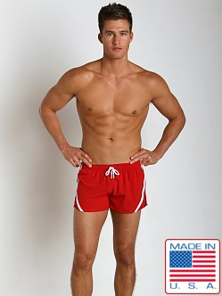 Pistol Pete Riptide Swim Short w/Liner Red