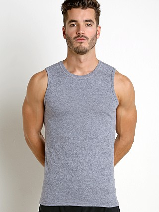 St33le Performance Heathered Muscle Tank Navy