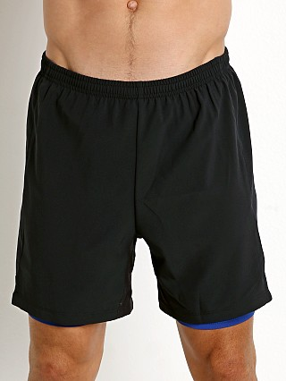 St33le 2-in-1 Athletic Shorts Black