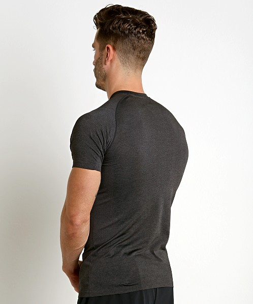 St33le Seamless Performance Short Sleeve Crew Black