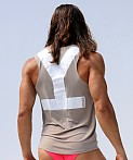 Rufskin Why Relaxed Fit Yogatek Tank Top Taupe, view 4