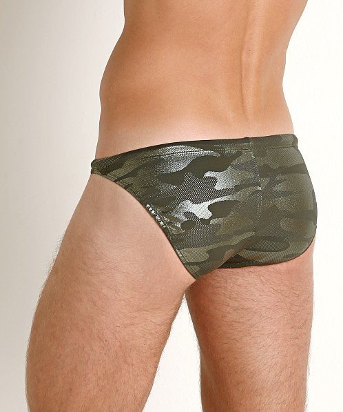 LASC Super Low Rise Swim Brief Green Camo